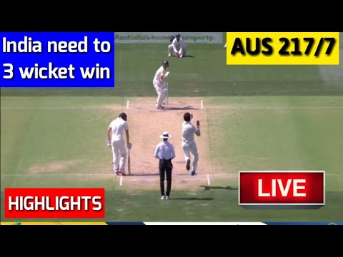 Highlights : India vs Australia 1st Test Day 5 | India need  3 more wickets to win I ind vs aus