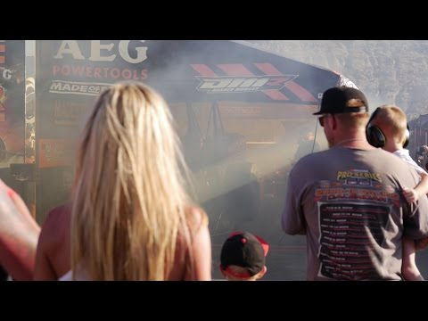 SPECTATOR REACTIONS!!! CAN YOU STAND BEHIND A TOP FUEL DRAGSTER WARMING UP?