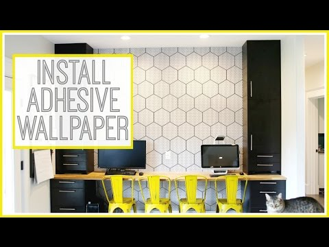 Installing Adhesive Backed Vinyl Wallpaper