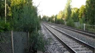 Kävin katselemassa junia.se on mukavaa katsella kun juna kulkee