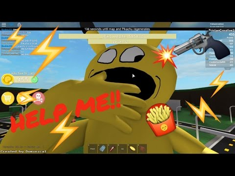 😖 ROBLOX ADVENTURES A VERY HUNGRY PIKACHU GETS DESTROYED!! GET IN MY BELLY! + BIGGEST SHOUT OUTS!