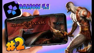 DAMON PS2 PRO 4.1  GOD OF WAR 2 - GAMEPLAY NO ANDROID