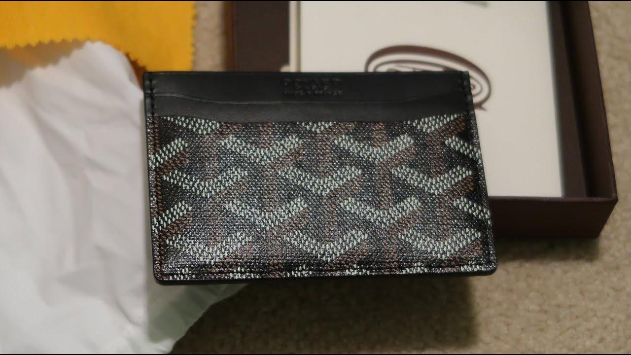 online retailer 01c0c 3c9b6 Goyard Saint Sulpice Card Holder Pickup/Unboxing