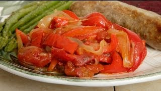 Italian Stewed Bell Peppers & Onions (med Diet Episode 33)