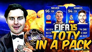 Omfg i packed a toty! fifa 15 toty pack opening