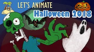 Let's animate - Halloween - Zombies from the grave animation