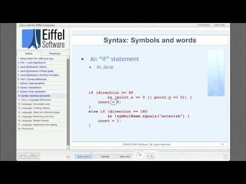 Where Eiffel Fits: Part 3 - Java and Eiffel the Language