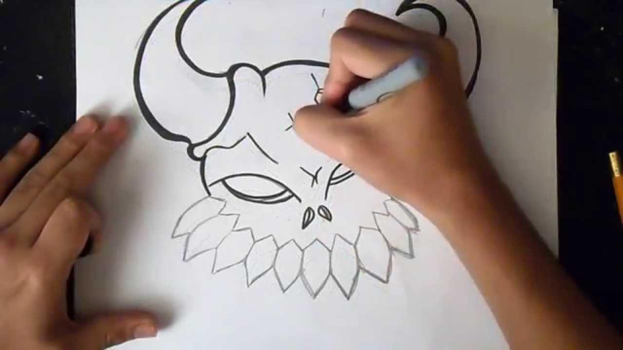 wie zu zeichnen d monsch del graffiti youtube. Black Bedroom Furniture Sets. Home Design Ideas