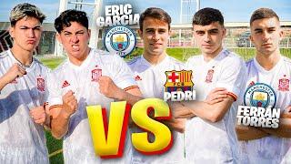 PEDRI vs ERIC GARCÍA vs FERRAN TORRES... *retos de fútbol increíbles*
