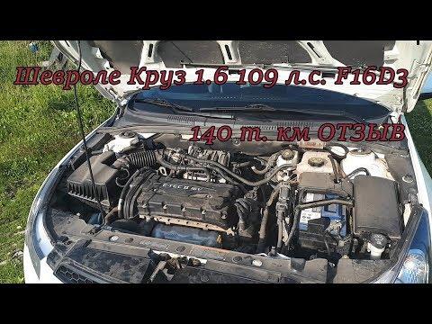 Двигатель шевроле круз 1.6 109 л.с. F16d3.Отзыв владельца.
