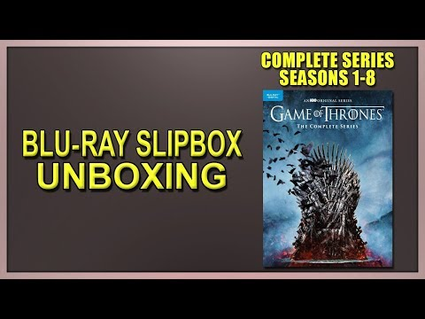 Game Of Thrones: The Complete Series Blu-ray Slipbox Unboxing