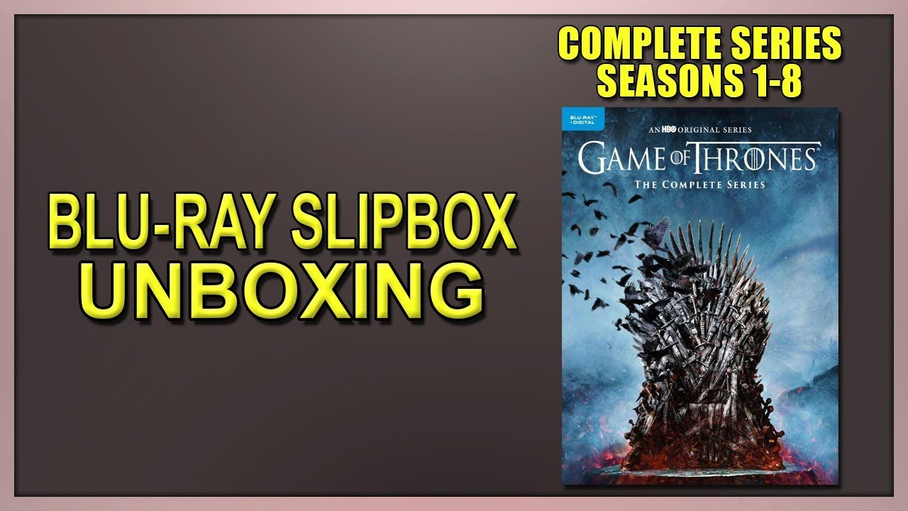 Game Of Thrones The Complete Series Blu Ray Slipbox Unboxing Youtube