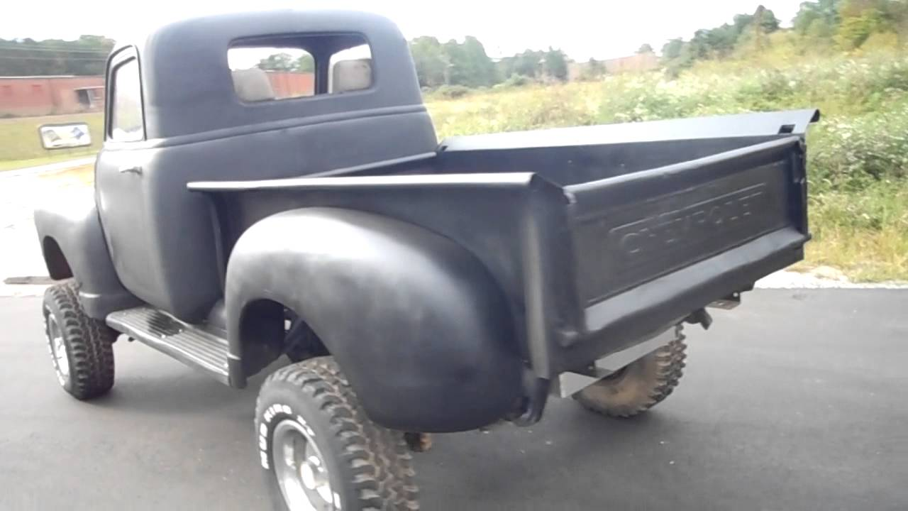 49 chevy 4x4 pickup youtube