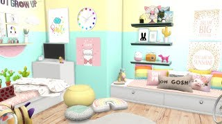 THE SIMS 4: SPEED BUILD // PRE-TEEN BEDROOM + CC LINKS