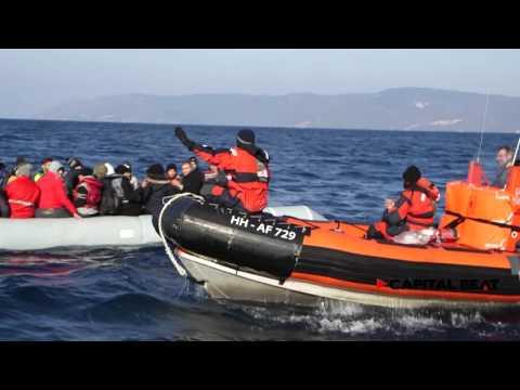 Auf Tour mit Frontex vor der Insel Lesbos