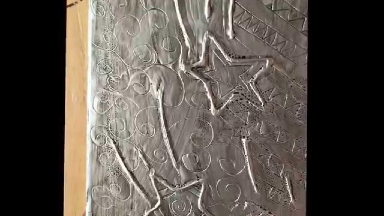 How to make aluminum foil raised art youtube