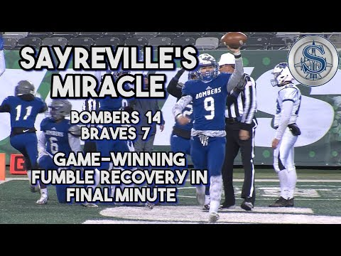 Sayreville 14 Williamstown 7 | South Group 5 Bowl Game | Miracle Ending for the Bombers