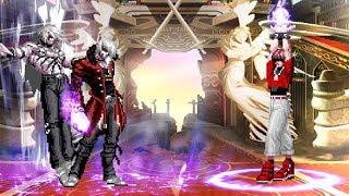 KOF MUGEN Orochi Iori XIV (Blue Demon) vs Orochi Chris