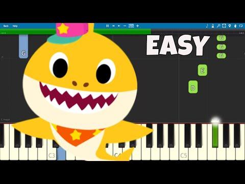 Baby Shark Dance – EASY Piano Tutorial – PINKFONG