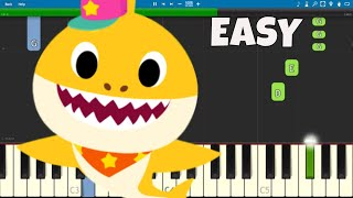 Baby Shark Dance - EASY Piano Tutorial - PINKFONG