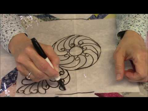 Designing Feathers in the Bethlehem Star Quilt - Part 2