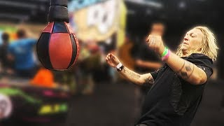 Head Butting a Punching Machine at Vidcon! thumbnail