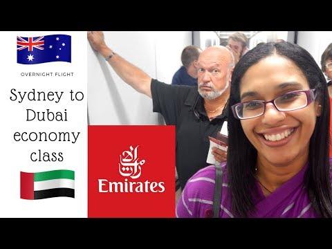 Emirates Sydney to Dubai in economy class | EK413 flight review