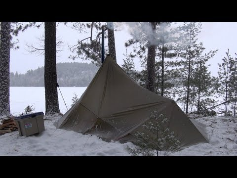 Winter trekking hot tent (Part2/3) & Winter trekking hot tent (Part2/3) - YouTube