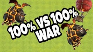 100% vs 100% + Rushed TH10 lavaloons strategy | By T.S.R | Clash of Clans