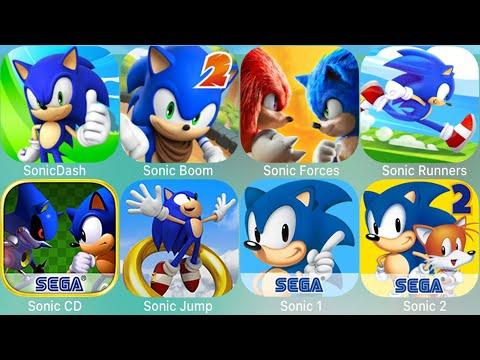 Sonic Dash,Sonic Boom,Sonic Runners,Sonic Jump,Sonic CD,Sonic Forces,Sonic,Sonic 2