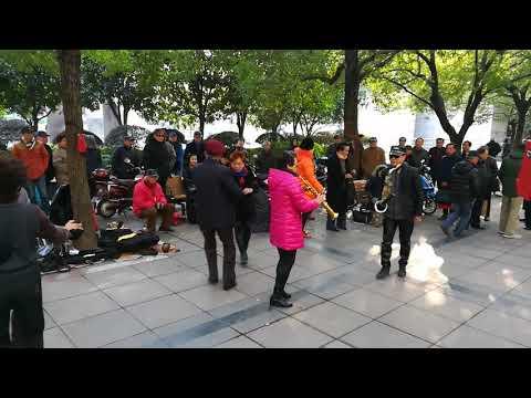 People dancing in Shanghai's People's park - Part 02