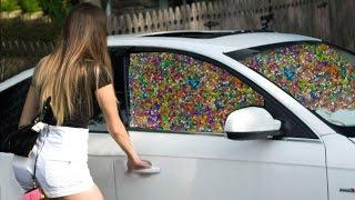 裝滿水晶寶寶的車-男友惡作劇(中字) 1 MILLION ORBEEZ IN GIRLFRIEND'S CAR PRANK!