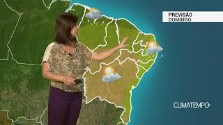 Previsão Nordeste – Muitas nuvens e chuva na costa norte