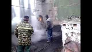 Чистка циклона на котельной N 1 г  Чашники Витебский области