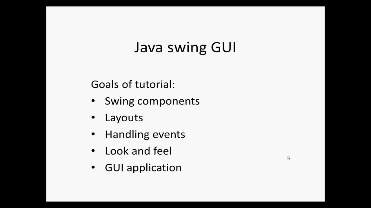 Java swing GUI
