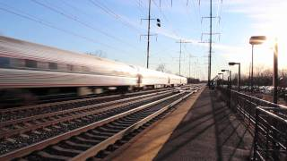 Railfanning At Jersey Avenue 1-18-12 (With Meets And Races)