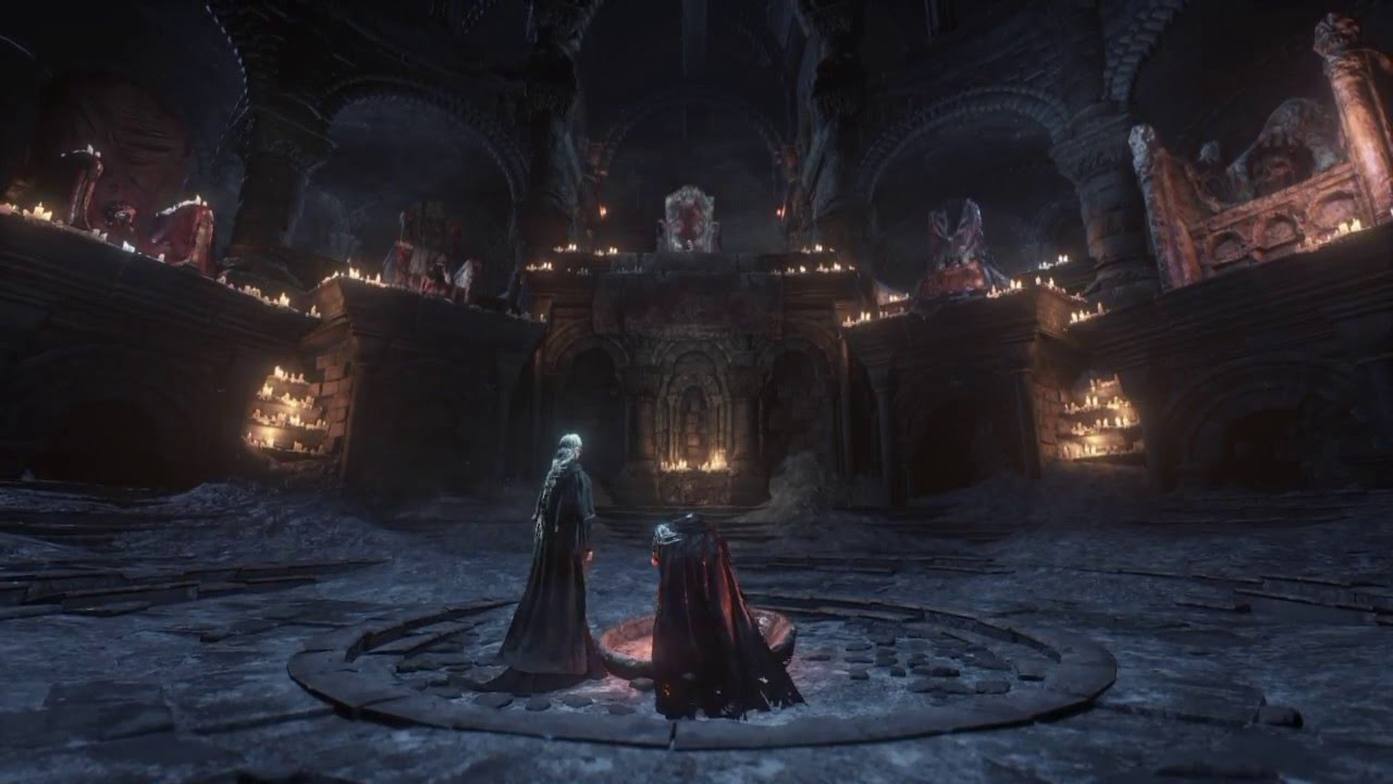 Fantasy Dark Throne Room