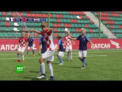 La finale France-Croatie rejouée par des enfants