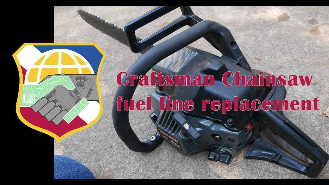 poulan chainsaw fuel line diagram 1984 toyota pickup 4x4 wiring sears craftsman replacement - 2 stroke engine youtube