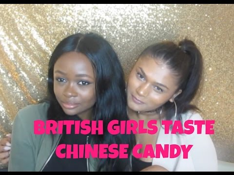 British Girls Taste Chinese Sweets Ft: Opeyemi || Kirsty Hannah