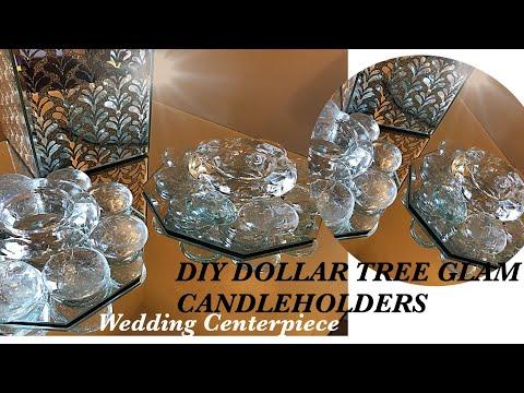 DIY: DOLLAR TREE GLAM CANDLE HOLDERS  | WEDDING CENTERPIECES