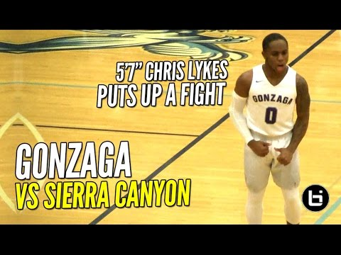 hqdefault 5'7 chris lykes puts up a fight! gonzaga vs sierra canyon! full,Sierra Canyon Invitational