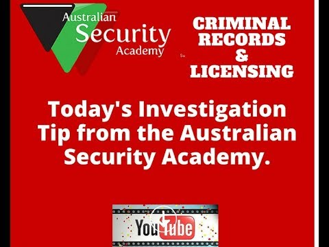Criminal Records and Private Investigation Licensing
