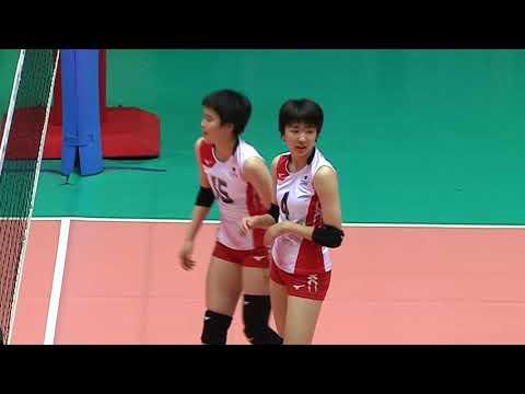 HL  SMM 12th Asian Est Cola Women's U17 Volleyball Championship / CHN vs JPN