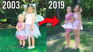SIBLINGS RECREATE THEIR BABY PHOTOS || Georgia Productions