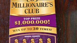 $20 Millionaires Club Texas Lottery Scratch Off Ticket(Check out Diesel Scratcher here: https://www.youtube.com/channel/UCbjGlwGa0-RUz4O_0KBdH_A Scratching a Texas Lottery Scratch Off Ticket. Will I find a ..., 2016-07-09T17:00:00.000Z)