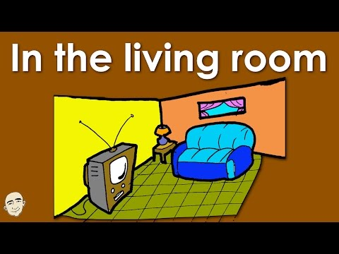 In The Living Room | Actions | Easy English Conversation Practice | ESL