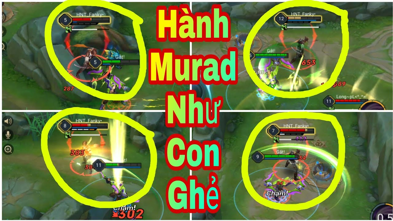Liên Quân Mobile - Thánh Nakroth Trở lại RANK Hành Murad Sml Và Hướng dẫn lấy lợi thế đầu Game