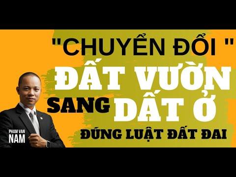 Chuyển đổi đất vườn trong khu dân cư sang đất ở được không I Phạm Văn Nam