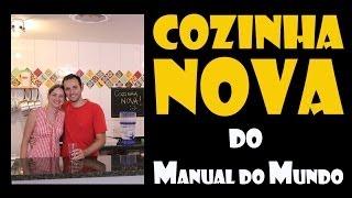 Cozinha nova do Manual do Mundo